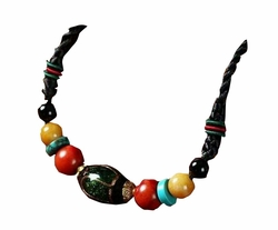 Beautiful Ethnic Coloured Glaze Women clavicle Necklace Clothes Accessory