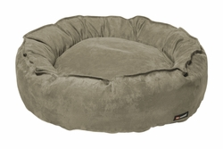 Big Shrimpy Pet Dog Nest Bed - Medium/Stone Suede