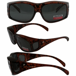 Birdz Beak Polarized and Fit Over Most Eyeglasses Sunglasses in Tortoise Frame