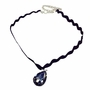 Black Elastic Lace Girl Necklace with Pendant Nice Clothes Accessory