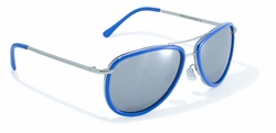 Blue Rimmed Aviator Style Sunglasses by Swag