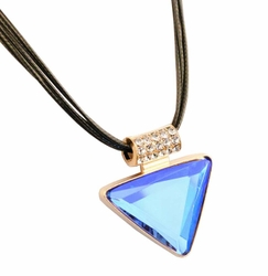 [Blue Triangle] Set of 2 Fashionable Costume Necklace Statement Necklace
