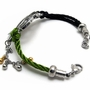 Braided Rope Strap Bracelet With Titanium Steel - Braided Rope Strap Bracelet With Titanium Steel-Color Golden