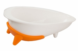 Cat Anit-Slip Ceramic Raised Food Bowls/Bevel Bulldog Feeding Bowl