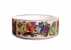 Cat Feeding Supplies Bowls/Safe Stoneware Raised Food Bowls(13*5.5CM)