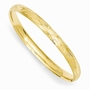 Child'S 14k Yellow Gold 5mm Wide Laser Accented Bangle Bracelet - Size: 6