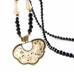 Chinese Safety Lock Shape Decorative Long Chain Necklace Accessories Necklace