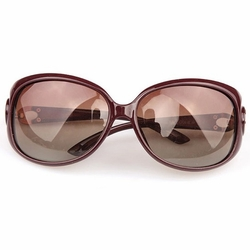 Claret Red Oval Frame Eyewear Fashion Travel Sun Protection Daily Sunglasses