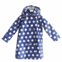 Cute Baby Rain Jacket Infant Raincoat Toddler Rain Wear BLUE Stars S