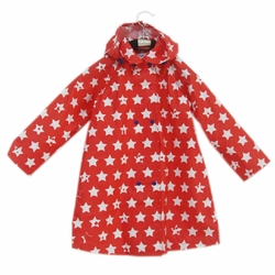Cute Baby Rain Jacket Infant Raincoat Toddler Rain Wear RED Stars S