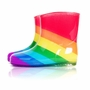 Cute Baby Rainy Day Infant Rain Shoes Toddler Rain Boot COLORFUL Rainbow