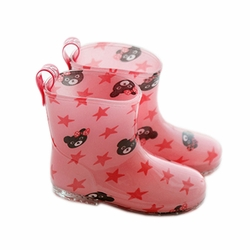 Cute Baby Rainy Day Infant Rain Shoes Toddler Rain Boot PINK Bears