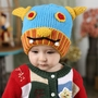Cute Ox Horn Baby Infant Knit Crochet Winter Warm Cap Hat 6-36 Months Blue
