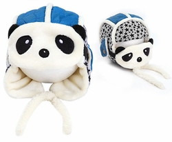 Cute Panda Baby Infant Winter Warm Cap Hat With Mask Blue