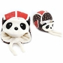 Cute Panda Baby Infant Winter Warm Cap Hat With Mask Red