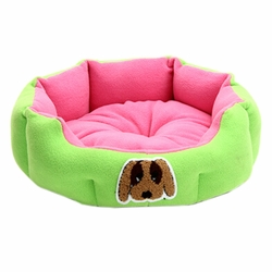 Detachable House Pet Mat Stylish Pet Bed Pet House Kennel Lovely Dog Green