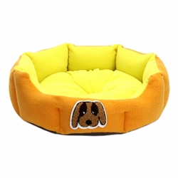 Detachable House Pet Mat Stylish Pet Bed Pet House Kennel Lovely Dog Yellow