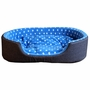 Detachable House Pet Mat Stylish Rectangle Pet Bed Pet House Kennel Dots Blue