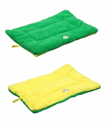Eco-Paw Reversible Eco-Friendly Pet Bed- Green And Yellow - Medium