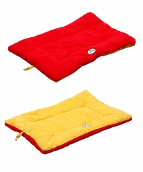 Eco-Paw Reversible Eco-Friendly Pet Bed- Orange And Red - Large