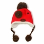 Fashion Cute Dog Design Baby Infant Knit Crochet Winter Warm Cap Hat RED