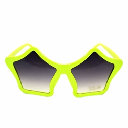Fashion Eyewear With Dark Lens Party Supplies Stars Shaped Sunglasses Yellow