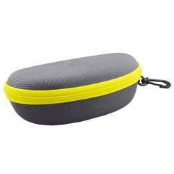 Fashion Hard Clamshell Sunglasses Eye Glasses Case with Zipper (Grey/Yellow)