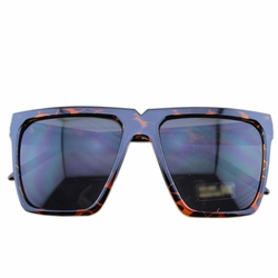 Fashion Leopard-print Frame Daily Square Frame Sunglasses Eyewear Sun Protection