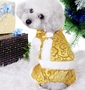 Fashion Pet Dog Clothes Chinese Style Tang Suit Winter Dress Golden