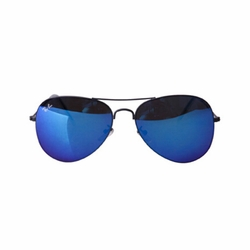 Fashion Unisex Colorful Lens Pretty Sunglasses Black frame  Blue Lens