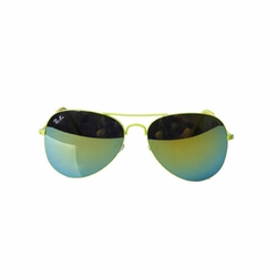 Fashion Unisex Colorful Lens Pretty Sunglasses Gold Green Lens