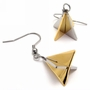 Fine Quality Jewelry Titanium 316L Steel Earrings - Color Golden
