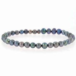 Freshwater Cultured Peacock Pearl Stretch Bracelet