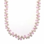 Freshwater Pearl Pink Topaz Teardrop Pendant Necklace Chain w/ Sterling Silver Clasp 40""