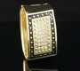Gold Alloy Pave Rectangular Rug Design Bracelet - Gold Alloy Pave Rectangular Rug Design Bracelet-Color Black