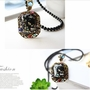 Gorgeous Sweater Long Chain Leaves Edge Necklace Pendant Necklace