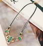 [Green] Set of 2 Beautiful Shining Costume Necklace Statement Necklace