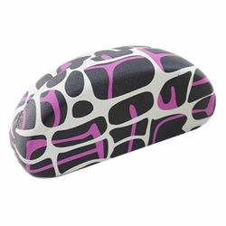 Hard Clamshell Sunglasses Eye Glasses Case/Storage Box Dairy Cow Black/Rose