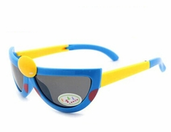 Hot Sale Seven-Spotted Ladybugs Folding Baby Sunglasses-Blue Frame