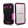 HTC Desire 510 Impact Silicone Case Dual Layer with Stand Pink
