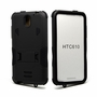 HTC Desire 610 Impact Silicone Case Dual Layer with Stand Black