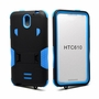 HTC Desire 610 Impact Silicone Case Dual Layer with Stand Blue