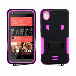 HTC Desire 626 / 626S Impact Silicone Case Dual Layer with Stand Pink