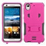 HTC Desire 626 / 626S Impact Silicone Case Dual Layer with Stand Pink Gray