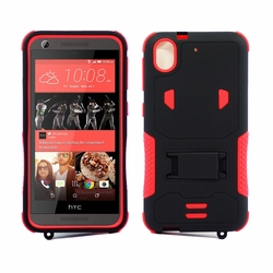 HTC Desire 626 / 626S Impact Silicone Case Dual Layer with Stand Red