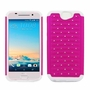 HTC One A9 Diamond Hybrid Rugged Case Cover Pink