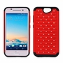 HTC One A9 Diamond Hybrid Rugged Case Cover Red