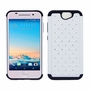 HTC One A9 Diamond Hybrid Rugged Case Cover White