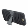 HTC One A9 Hybrid Silicone Case Cover Stand Black
