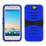 HTC One A9 Hybrid Silicone Case Cover Stand Blue